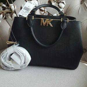 Michael Kors Florence leather satchel handbag purs